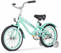 16 girl s beach cruiser bike green