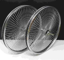 "20"" Rear & Front Beach Cruiser Lowrider 140 spokes wheels Co"