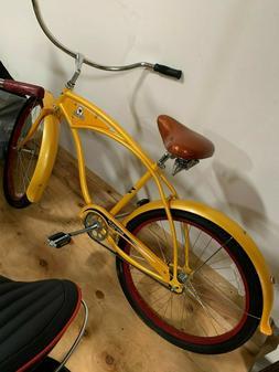 2000 yellow new belgium beach cruiser bike