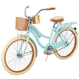 "Huffy 24"" Nel Lusso Women's Beach Cruiser Bike Mint Green"