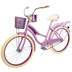 "Huffy 24"" Womens Girls' Nel Lusso Beach Cruiser Bike w/ Perf"