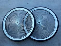 26 144 spokes wheelset w white wall