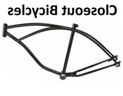 "26"" Lowrider All Black Bike Bicycle Frame Beach Cruiser Chop"