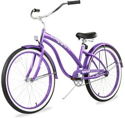 "26"" Beach Cruiser Bike Firmstrong Bella Classic LadyPurple"