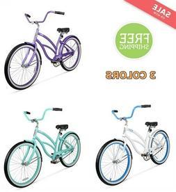 "26"" Bike Women Beach Cruiser Sport Outdoor Aluminum Frame Li"