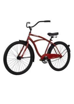 "Huffy 26"" Cranbrook Men's Beach Cruiser Bike, Red, Brand New"