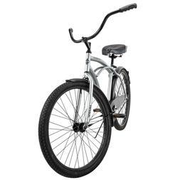 "Huffy 26"" Cranbrook Men's Beach Cruiser Comfort Bike Silver"