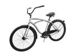 "✅Huffy 26"" Cranbrook Men's Beach Cruiser Comfort Bike, Sil"