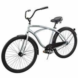 "Huffy 26"" Cranbrook Men's Beach Cruiser Comfort Bike - Silve"