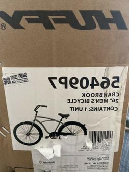 "Huffy 26"" Cranbrook Men's Beach Cruiser Comfort Bike Silve"
