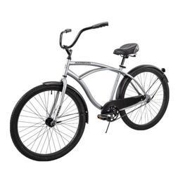 "✅Huffy 26"" Cranbrook Men's Beach Cruiser Comfort Bike, Sil"