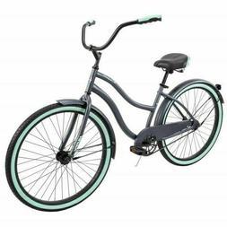 """Huffy 26"""" Cranbrook Women's Beach Cruiser Comfort Bike GRAY"""