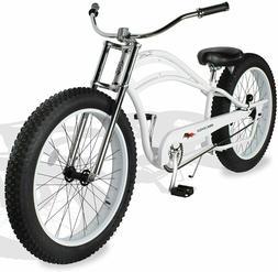 "MICARGI 26"" Fat Tires Stretch Beach Cruiser Bicycle Bike Sea"