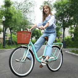 26 Inch Classic Bicycle Retro Bicycle Beach Cruiser Bicycle