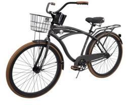 "Huffy 26"" inch Nel Lusso Mens Comfort Beach Cruiser Bike Cha"