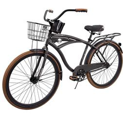 "Huffy 26"" inch Nel Lusso Mens Comfort Beach Cruiser Bike Cha"