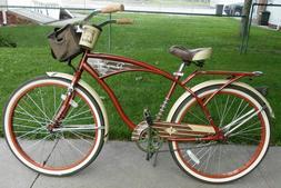 "Huffy 26"" inch Panama Jack Men's Beach Cruiser Bike Brown Fr"