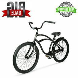 "26"" Men Beach Cruiser Bike Vintage Bicycle Comfort Seat Outd"