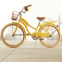 "Women's 26"" Beach Cruiser Bike Perfect Fit Frame Comfort Rid"