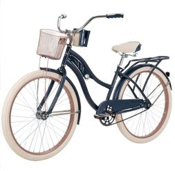 "Huffy 26"" Nel Lusso Women's Beach Cruiser Bike, Blue"