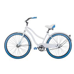 "HUFFY 26"" WOMEN'S CRANBROOK BEACH CRUISER BIKE - WHITE  -"