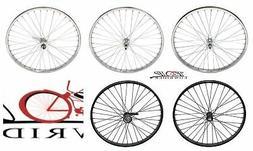 """26"""" x 2.125"""" Steel Bike Wheel 36 Spoke 12g 3/8 Axle Beach Cr"""