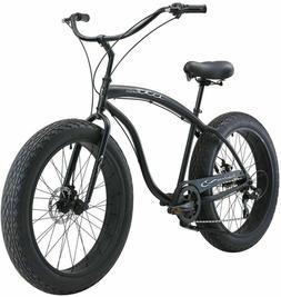 "26"" x 4.0 Beach Cruiser Bike SHIMANO 7-Speed Fat Tire/Wheel"