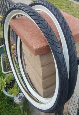 """26x2.125"""" White Wall Slick Beach Cruiser Bike bicycle tires"""