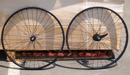 "Fito 36 Spoke 26"" front & rear wheel kit BLACK for 1-speed b"