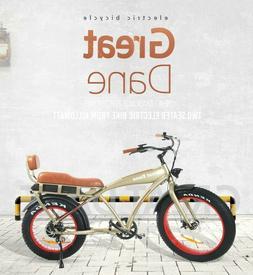 36V 25MPH Electric Bike Beach Cruiser Cafe Racer GREAT DANE