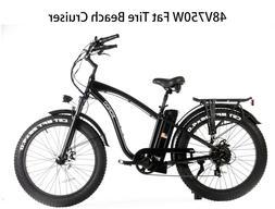 SOHOO 48V750W16AH Beach Cruiser Electric Bicycle Fat Tire E-
