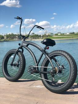 Aluminum Fat Tire Bike Beach Cruiser  🌴 Sikk 7 SPEED FLAT