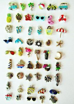 Authentic Origami Owl Summer Charms, Beach, Pool, Ocean Reti
