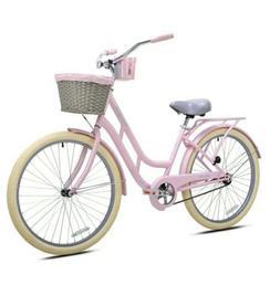 """BCA 26"""" Womens Charleston Beach Comfort Cruiser Bike - Pin"""