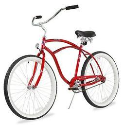 "26"" Men Beach Cruiser Bicycle Bike Firmstrong Urban Red"