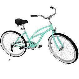 "Beach Cruiser Bike 26"" Beach Cruiser Bicycle Cycling Mint Gr"