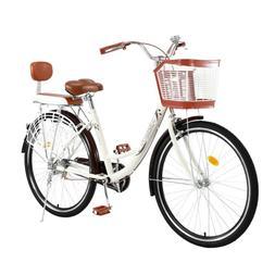 Beach Cruiser Bike 26 Inch Bicycle Step-through Frame Comfor