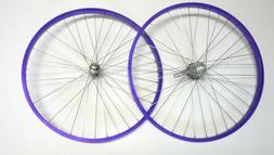"Beach Cruiser bike 26""x1.75 Rear & Front Wheels Rims Purple"