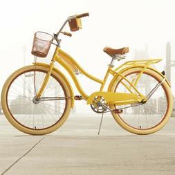 """Womens Beach Cruiser Bike 26"""" Ladies Bicycle w Basket Vintag"""