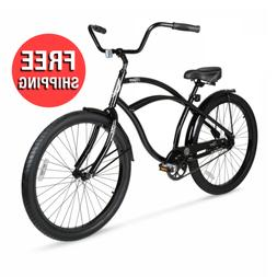 Beach Cruiser Bike Vintage Mens Bicycle Comfort Seat Outdoor