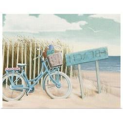 Beach Cruiser II Crop Poster Art Print, Bicycling Home Decor