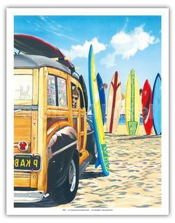 Beach Cruiser Kids Retro Woodie Beach Westmoreland Color Pai