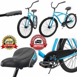 Beach Cruiser Matte Blue Bike 26 Inch Perfect Fit Frame Alum
