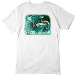 Beach Cruiser T-SHIRT Beach Bicycle Cycling TEE