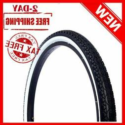 Beach Cruiser Tires, 26 inch x 2.125 White Wall Black Lightw