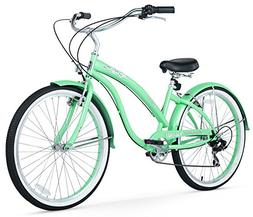 Women's Bella Classic Beach Cruiser Bike, Mint Green