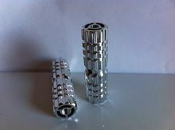 """BICYCLE ALLOY PEGS 24T/26T CHROME 3""""L X 1""""W BEACH CRUISER LO"""