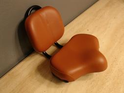 Bicycle Seat Saddle Brown Large Comfort Adjustable Back Rest