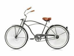"""Chrome Man' s 26"""" Beach Cruiser Bike 68 Spokes Springer Fork"""