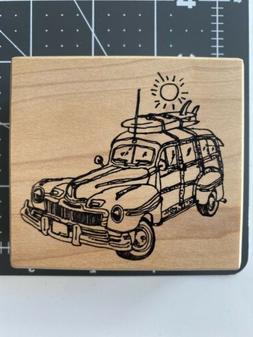 Classic Beach Woody Wagon Cruiser Surfing Sun Stampa Barbara